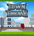 town theme scene set vector image vector image