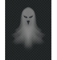 transparent ghost scary halloween night ghoul vector image vector image