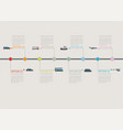 transportation infographic timeline with stepwise vector image