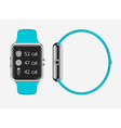 Trendy Colorful Icon of Smart Watch with Smart vector image