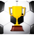 trophy award design vector image vector image