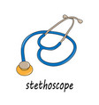 with a stethoscope vector image vector image