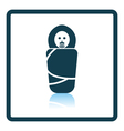 Wrapped infant icon vector image