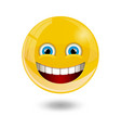 yellow smiley emoticons emoji vector image