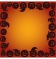 Background with Pumpkins Jack O Lantern vector image