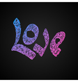 letters love text doodles valentines day vector image
