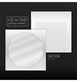 CD or DVD packing envelope vector image