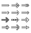 Set of various arrows sign vector image