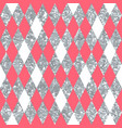 abstract pink seamless pattern with rhombus vector image vector image