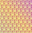 Abstract seamless geometric cubic background vector image