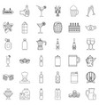 alcohol icons set outline style vector image vector image