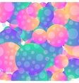 Background with simple blue and pink circles vector image