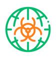 biohazard symbol problem thin line icon vector image vector image