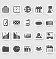 Business and office icons stikers vector image