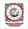 Car racing emblem and championship race badge vector image vector image