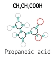 CH3CH2COOH propanoic acid molecule vector image vector image