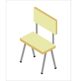 Chair in Isometric Projection vector image vector image