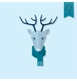 Christmas Reindeer Monochrome color vector image vector image