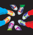 colorful sneaker shoes vector image vector image