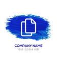 copy icon - blue watercolor background vector image