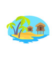 cute island in exotic country vector image vector image