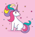 cute unicorn design vector image vector image