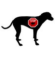 Dog stop sign for fleas vector image vector image
