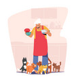 elderly people hobby concept old granny holding vector image