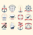 fashion nautical logo sailing themed label or icon vector image vector image