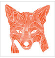 Fox animal sketch tattoo symbol vector image
