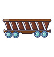 freight car icon cartoon style vector image vector image