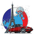 french style badge vector image