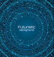 futuristic background digital template techno vector image vector image