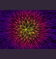 glowing psychedelic abstract fantastic flower vector image vector image