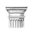 hand drawn capital doric order vector image vector image