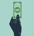 hand giving money vector image