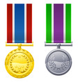 hanging medals and ribbons vector image vector image
