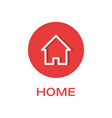 home round flat icon house symbol vector image