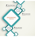 Infographic template with squares vector image vector image