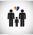 lgbt male plus male family on white background vector image