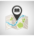 library map pin pointer design vector image vector image