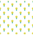 Light bulb with sprout pattern cartoon style vector image vector image