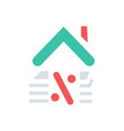 loan icon simple home loan sign symbol with vector image vector image