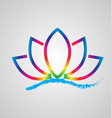 lotus flower on water icon logo design vector image vector image