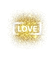 Love with frame vector image