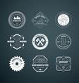 Lumberjack Logos vector image vector image
