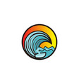 man surfing and wave logo designs inspiration vector image vector image