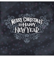 MERRY CHRISTMAS lettering1 vector image vector image