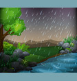 nature scene with rainy day in the park vector image vector image