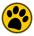 Paw button vector image vector image